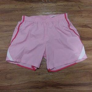 Nike pink athletic shorts